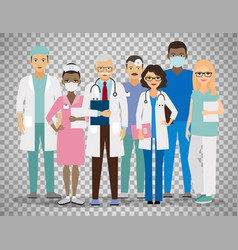 Medical team on transparent background vector