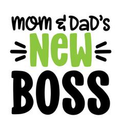 Mom and dads new boss - scandinavian illust vector
