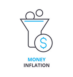 money inflation concept outline icon linear vector image