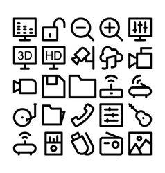 Multimedia Icon 3 vector image