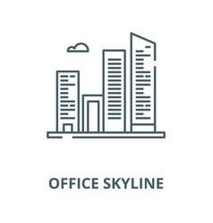 Office skyline line icon linear concept vector