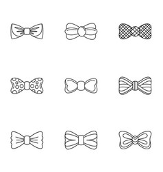 Pharynx icons set outline style vector