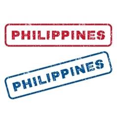 Philippines Rubber Stamps vector image