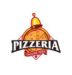 pizzeria emblem vector image