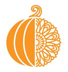 Pumpkin sunflower vector