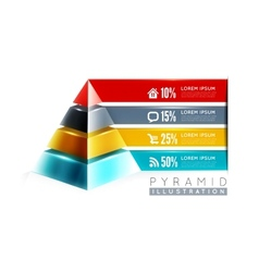 Pyramid infographic design vector