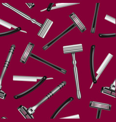 realistic detailed 3d shaving razor seamless vector image