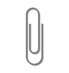 realistic paper clip vector image