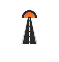 Road logo and symbol template vector