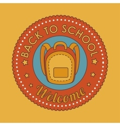 seal back to school icon vector image