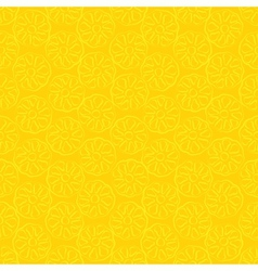 Seamless pattern of yellow pineapple vector image