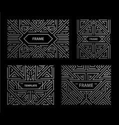 set art deco frames adges abstract vector image