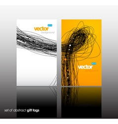 Set of gift card with lines vector image