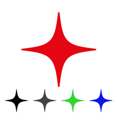 Space star flat icon vector