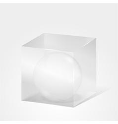 Sphere in Cube vector image