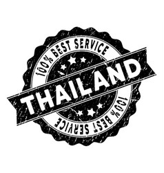 thailand best service stamp with scratched surface vector image