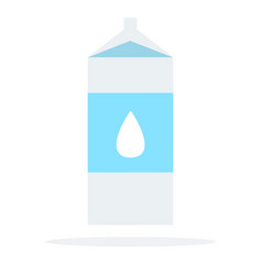 The milk pack flat material design isolated vector