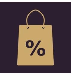 The shopping bag icon vector