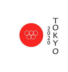 tokyo japan 2020 games in tokyo in flag and text vector image