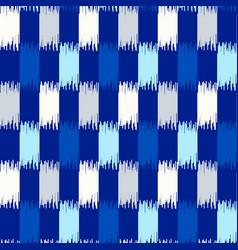 uzbek ikat silk fabric pattern indigo blue and vector image