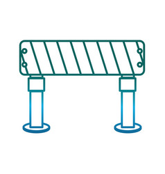Warning barrier icon vector