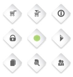Web site icon set vector