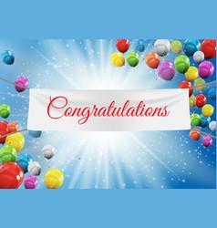Winner congratulations background vector