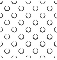 winner wreath pattern seamless vector image