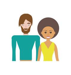ethnic couple romantic image vector image