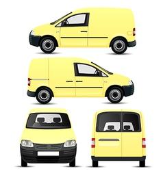Mini Van vector image vector image