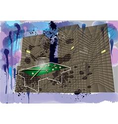 urban billiard vector image
