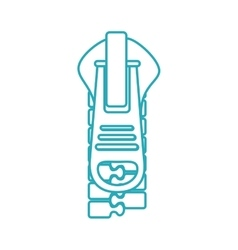 zipper style isolated icon vector image