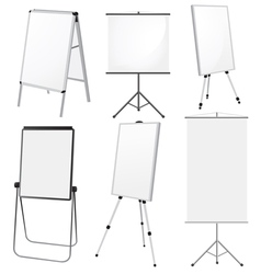 Blank Promotion Stand set vector image