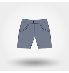 Denim shorts vector image