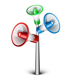 megaphones vector image vector image