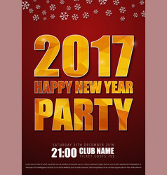 redr posters for the new years party in 2017 vector image