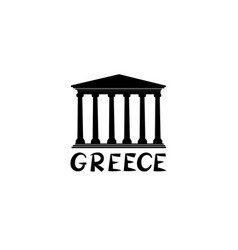 greece sign greek famous landmark temple travel vector image vector image