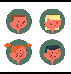 Kids avatars vector image
