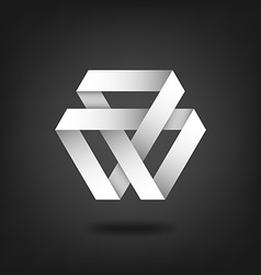 Mobius strip symbol on black background vector image