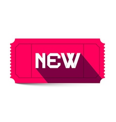 New Title on Pink Retro Ticket vector image vector image
