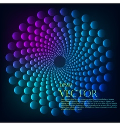 Rainbow vortex background vector image