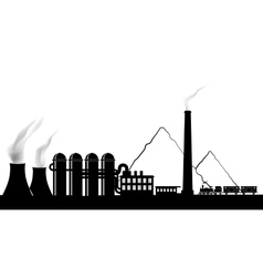 Silhouette of a power plant vector image vector image