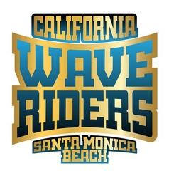 Wave riders typography vector image vector image