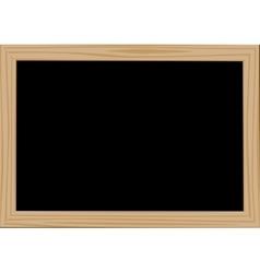 Wooden frame blackdesk vector image vector image