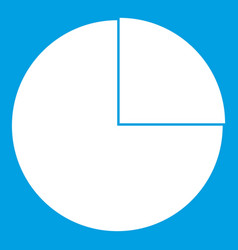 graphs chart statistic icon white vector image vector image
