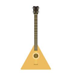 instrument balalaika guitar folk musical vector image vector image