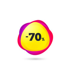 70 percent discount sign icon sale symbol vector image