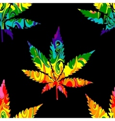 Abstract Cannabis Seamless Pattern vector