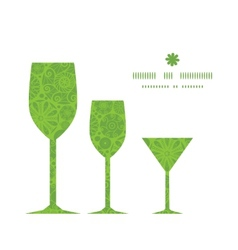 abstract green and white circles three wine vector image