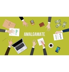 Amalgamate concept in a team vector image